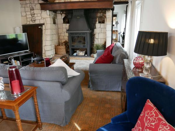 the lounge and log burning stove